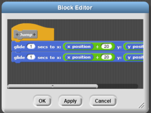 Simple Code Blocks: Using Functions: Block Editor