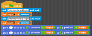 Using Variables, Sprite Jump to user input height and length